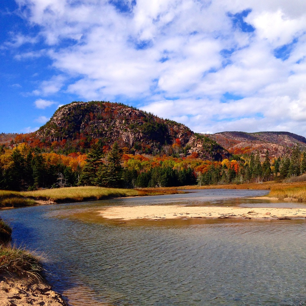 The Beehive during fall at Acadia National Park, Maine. Photo credit: Heather Anderson.