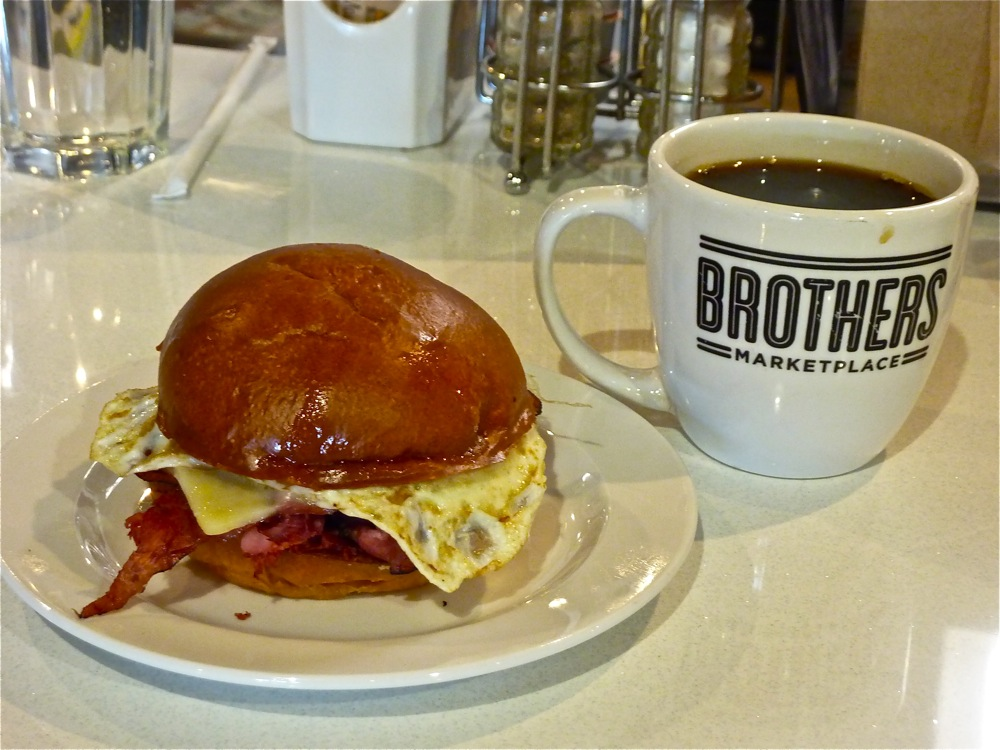 Breakfast from Brothers Diner at Brothers Marketplace in Medfield, Massachusetts