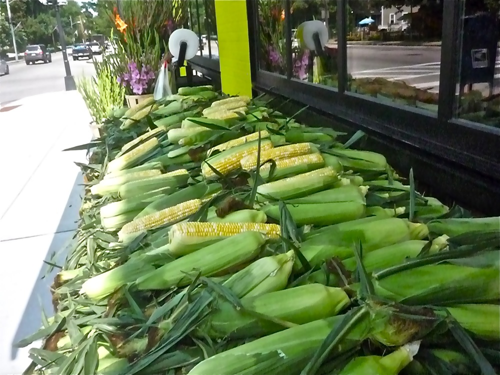 Local corn from Brothers Marketplace in Medfield, Massachusetts