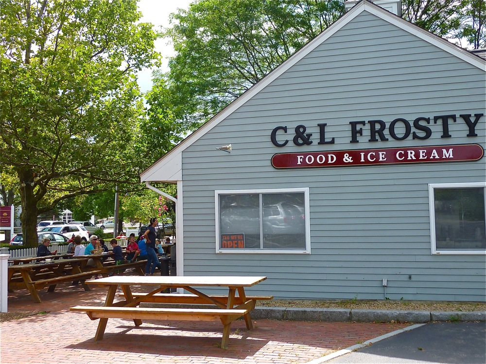 C&L Frosty in Sherborn MA is great for comfort foods and ice cream.