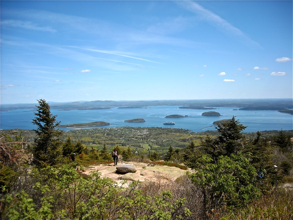 Views from Cadillac Mountain at Acadia National park, Maine.