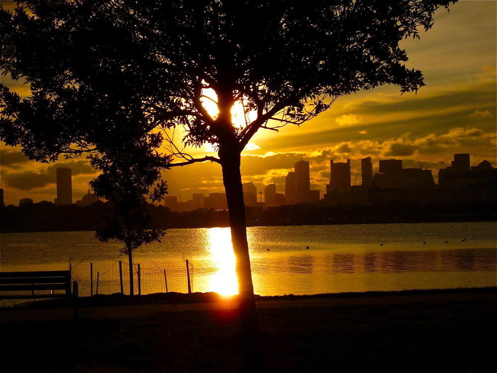 Sunset at Castle Island in South Boston, Mass.