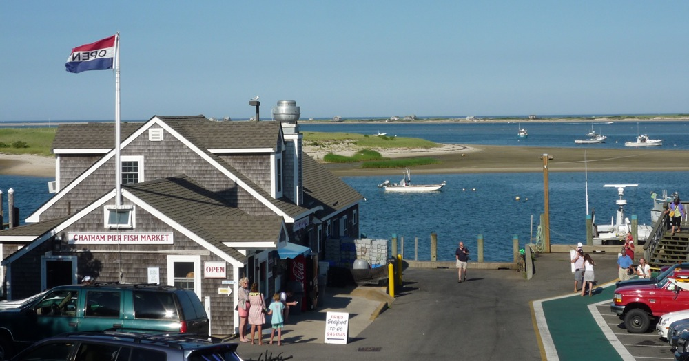 View of the sea in Chatham, Mass. (Cape Cod).