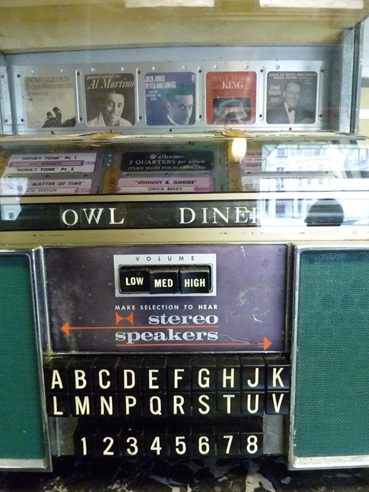 Old-time jukebox at Four Sisters Owl Diner in Lowell, Mass.