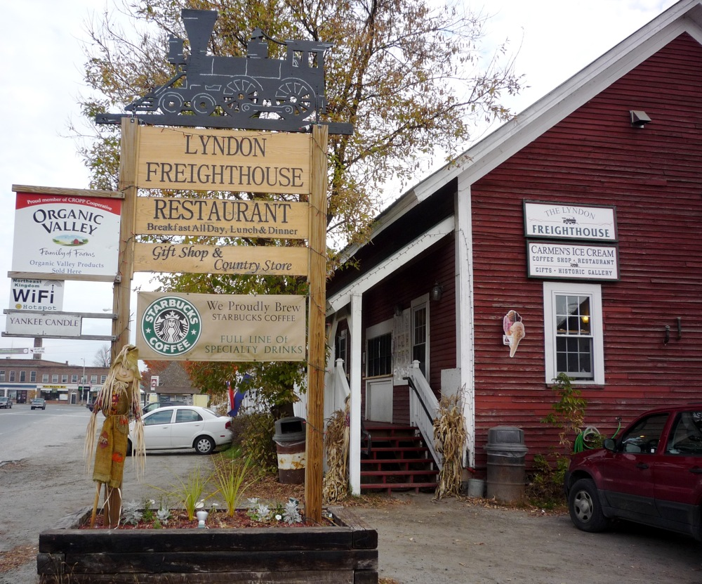 The Lyndon Freighthouse in Lyndonville VT