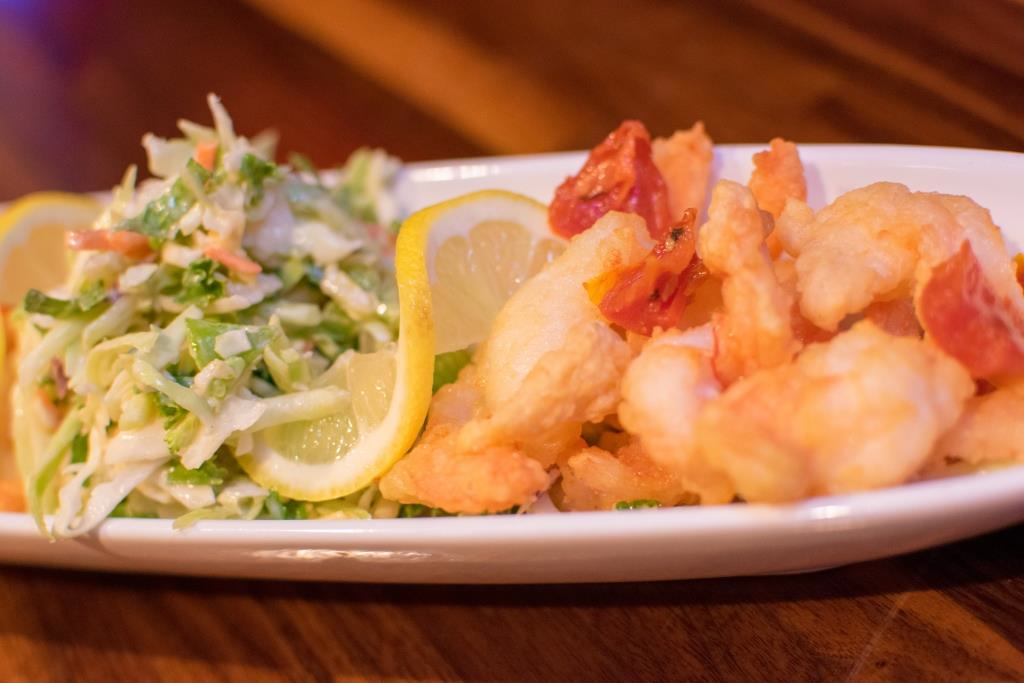 Small plate at GPub in Providence, R.I.: Twisted Garlic Shrimp