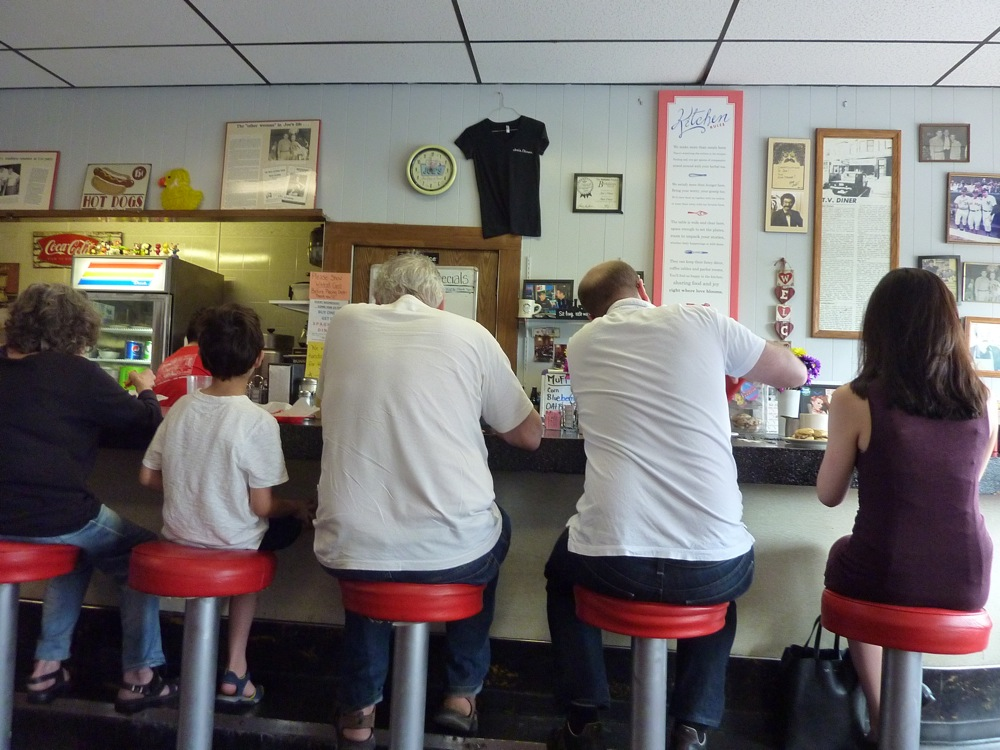 All walks of life meet at Joe's Diner in Lee, Massachusetts.