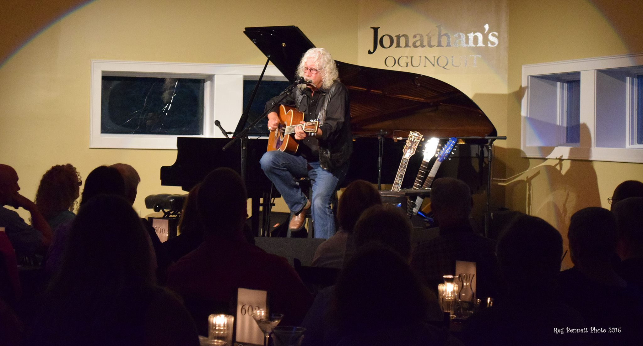 Arlo Guthrie performs at Jonathan's Restaurant in Ogunquit, Maine.