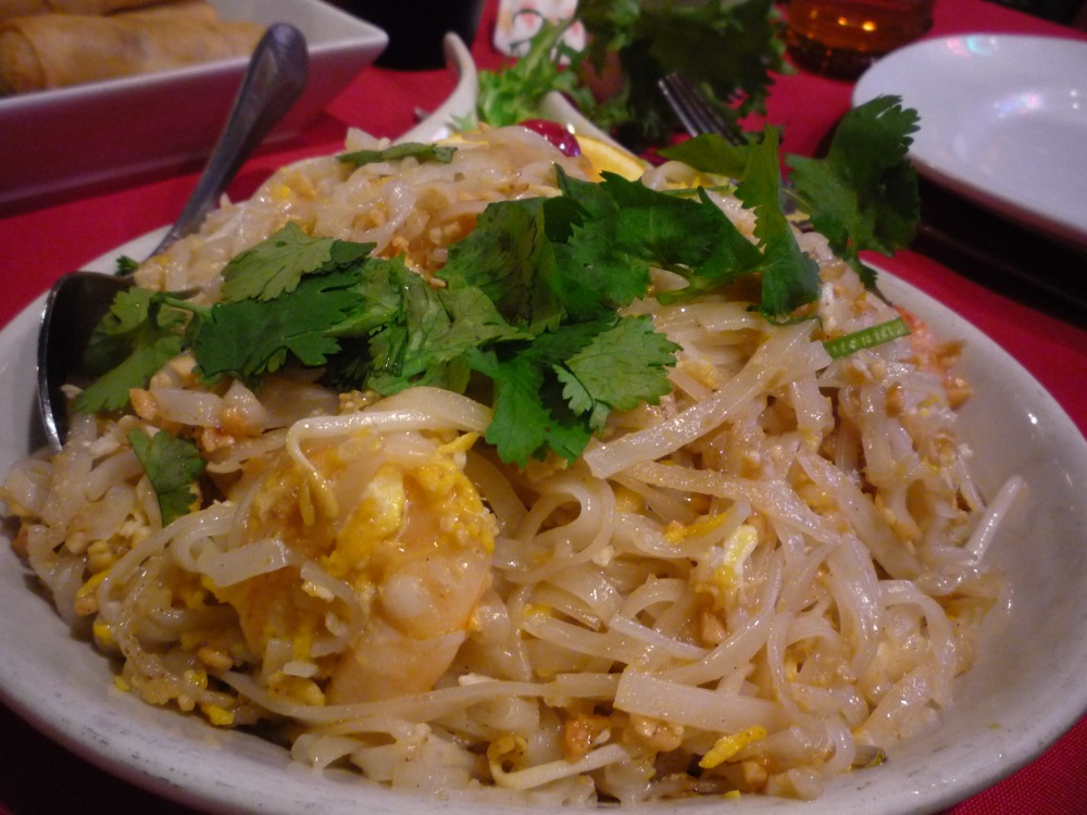 Pad Thai from the Kowloon in Saugus, Massachusetts.