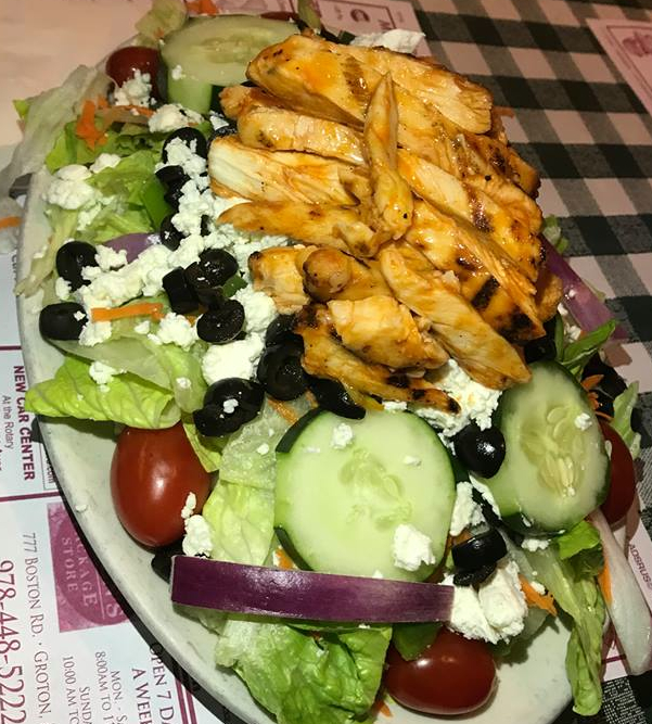 Chef's Greek salad with grilled chicken from the Nashoba Club in Ayer, Mass.
