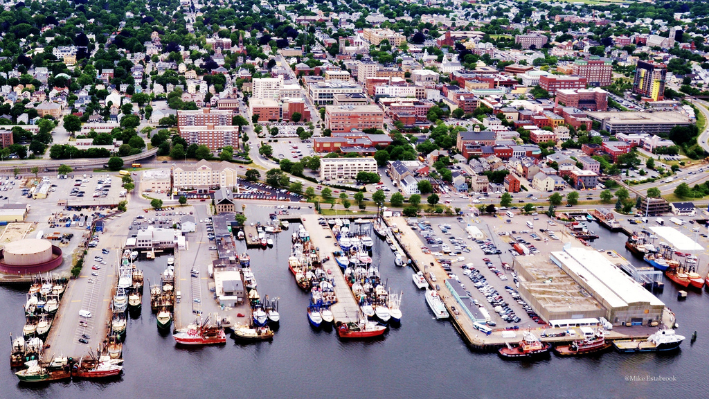 Working waterfront in New Bedford, Massachusetts