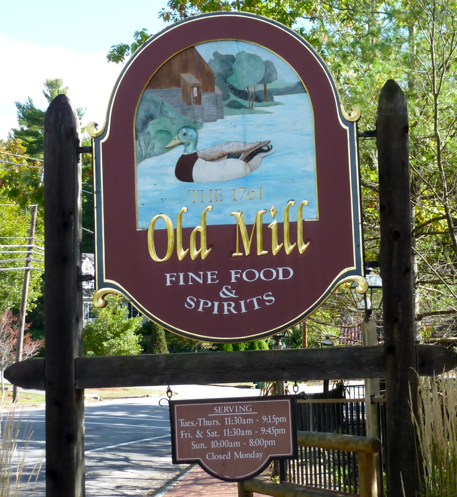 The 1761 Old Mill restaurant in Westminster MA