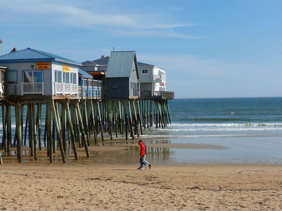 Old Orchard Beach, Maine in March.