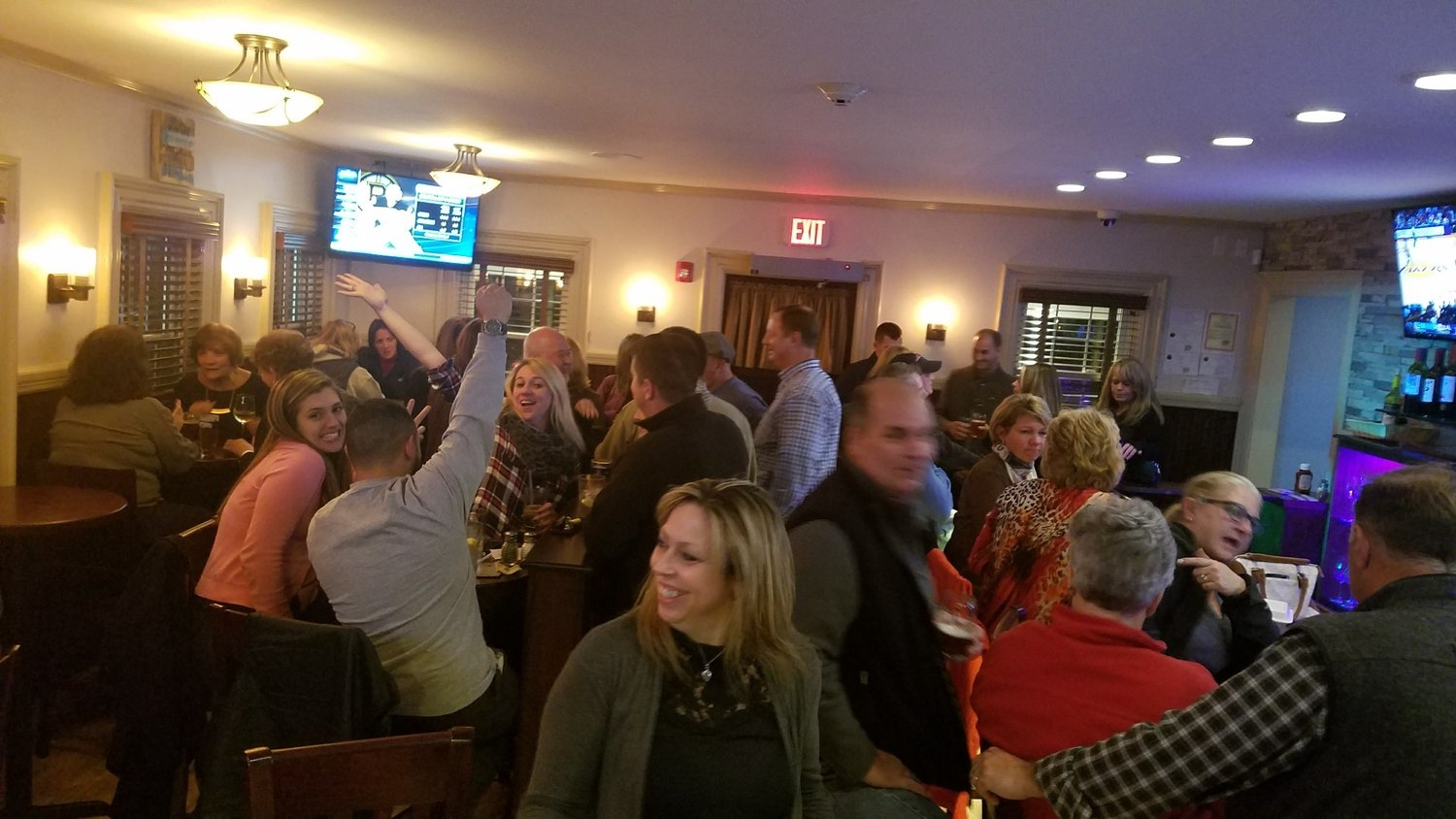 Busy, busy, busy at the Patriot Tavern in Walpole MA!