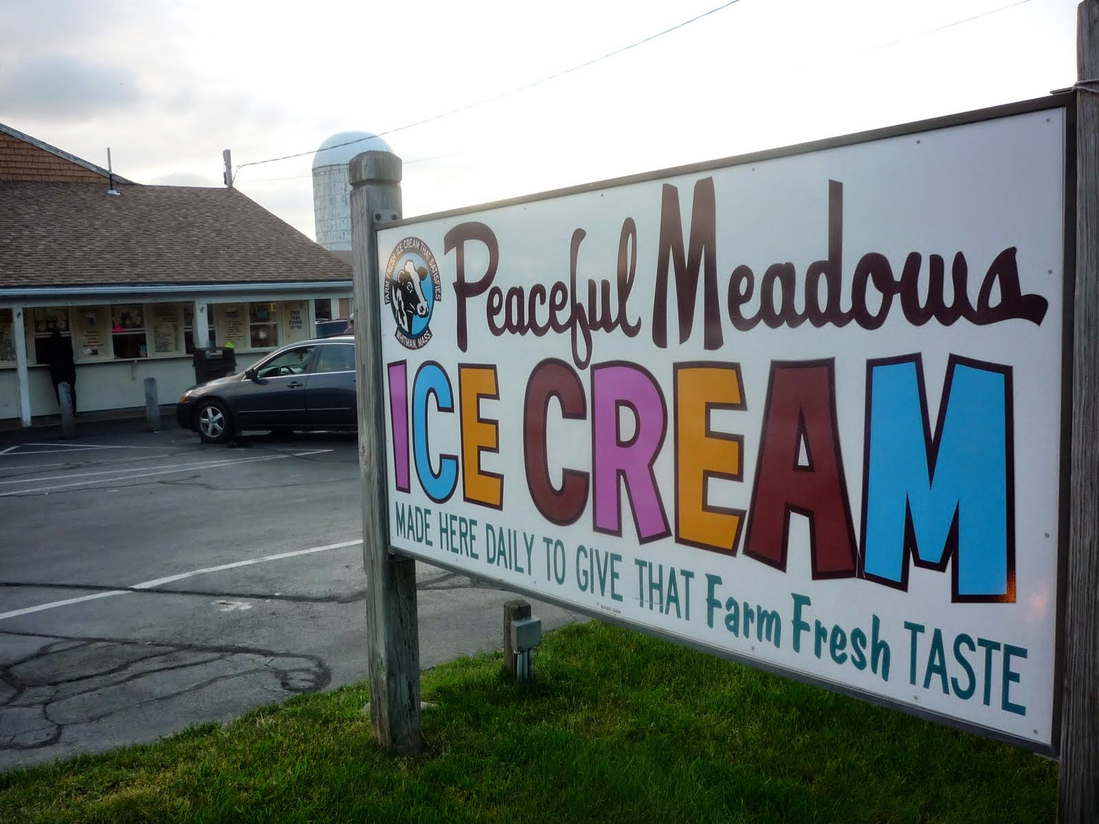 Peaceful Meadows ice cream, Whitman, Massachusetts