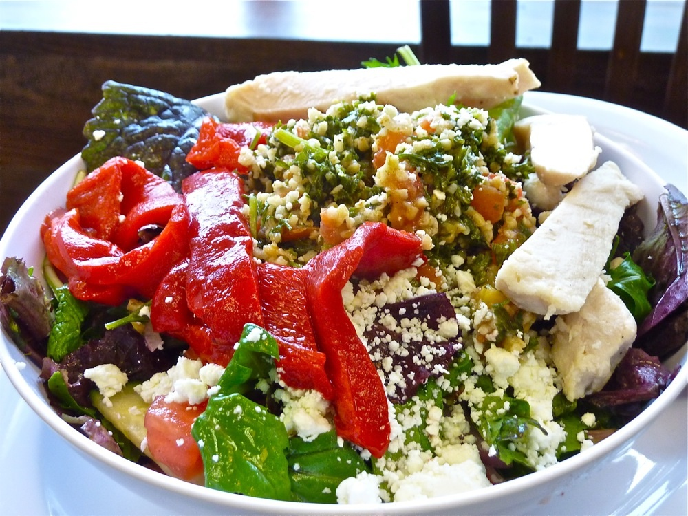 Mediterranean salad from Red Cherry Cafe in Walpole, Mass.