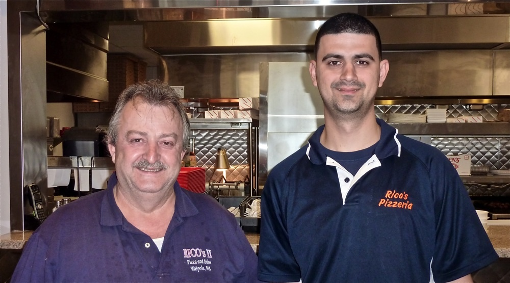 Tasos and Peter Stahtakis of Rico's Pizzeria, Walpole MA