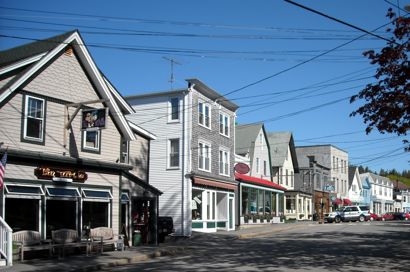 Downtown Northeast Harbor, Maine