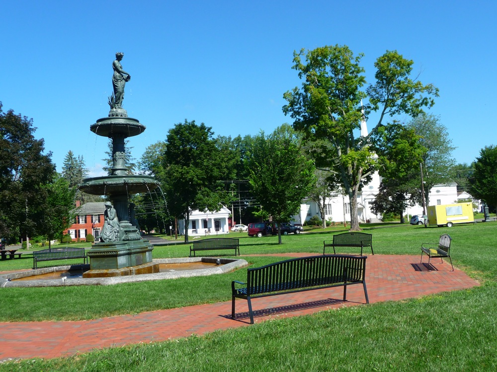 Town common at West Brookfield, Massachusetts