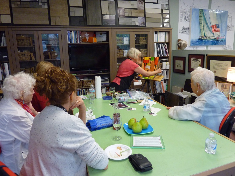 Art night at the Drawing Room at Anthi Frangiadis Associates in Marion, Massachusetts.