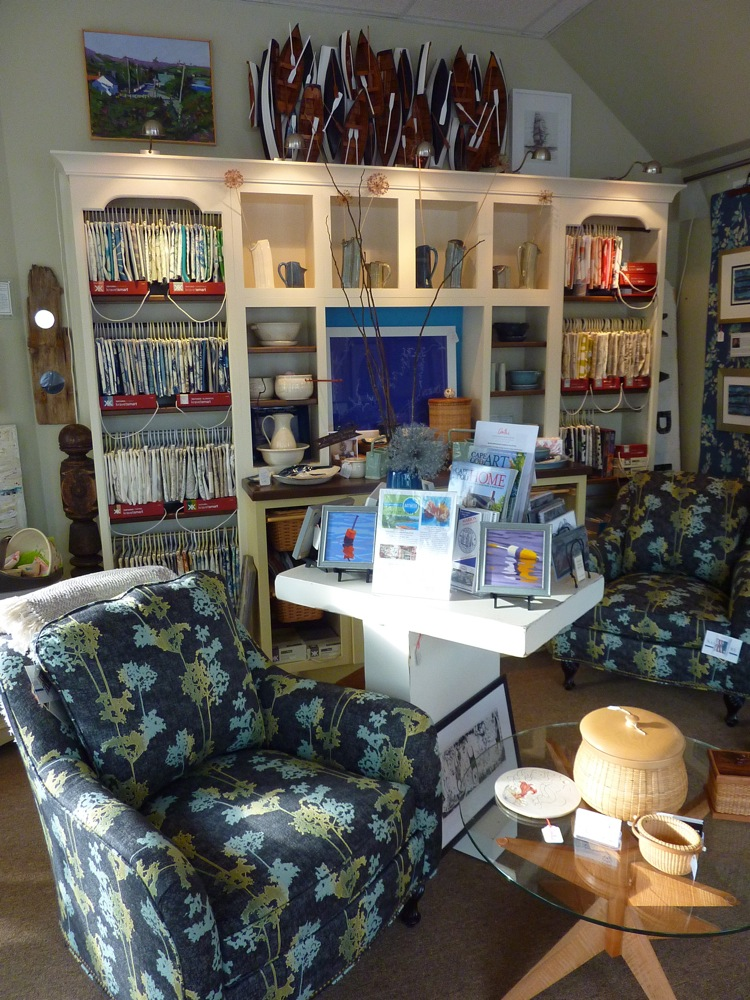 Art, furniture and books at Anthi Associates in Marion, Massachusetts.