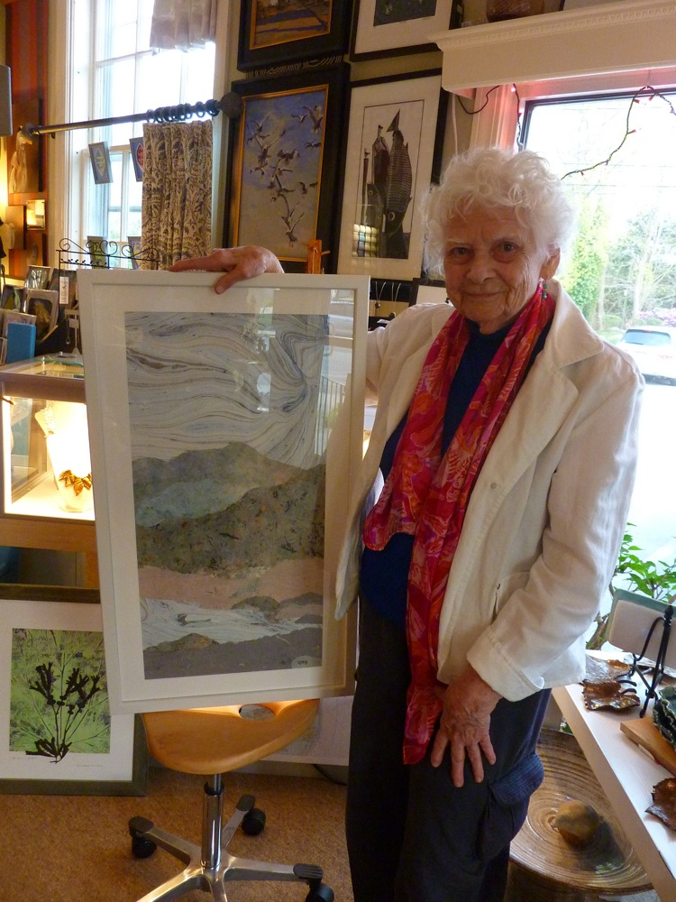 Mary Ross, a 90-year-old artist, at The Drawing Room in Marion, Massachusetts.