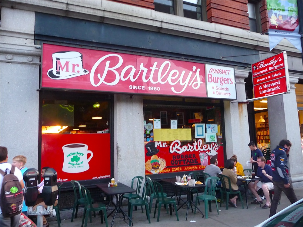 Mr. Bartley's Burger Cottage is VisitingNewEngland's favorite place for burger in Harvard Square, Cambridge, Massachusetts.