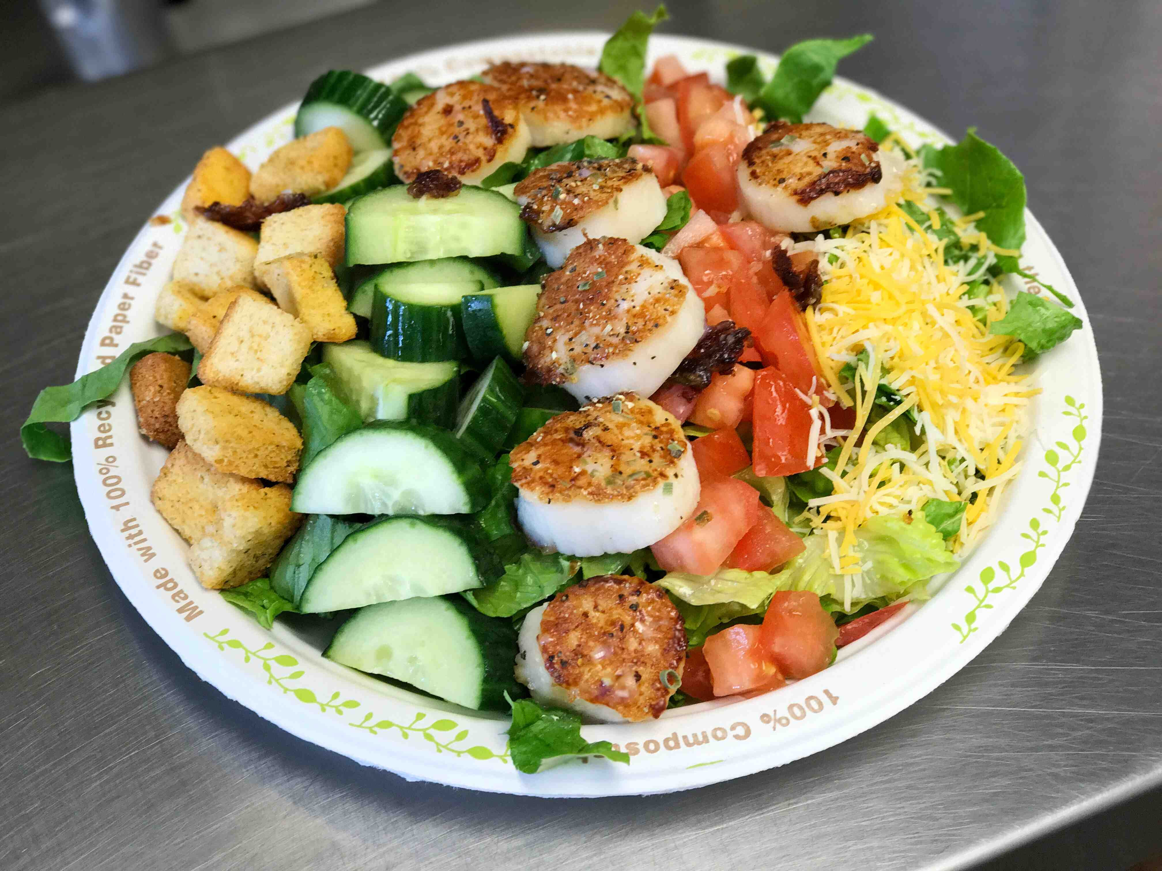 Scallop salad from the Beach Plum in North Hampton, NH.
