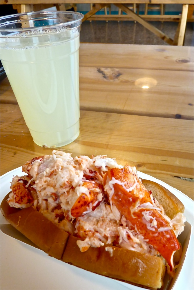 Beach Plum lobster roll and freshly squeezed lemonade