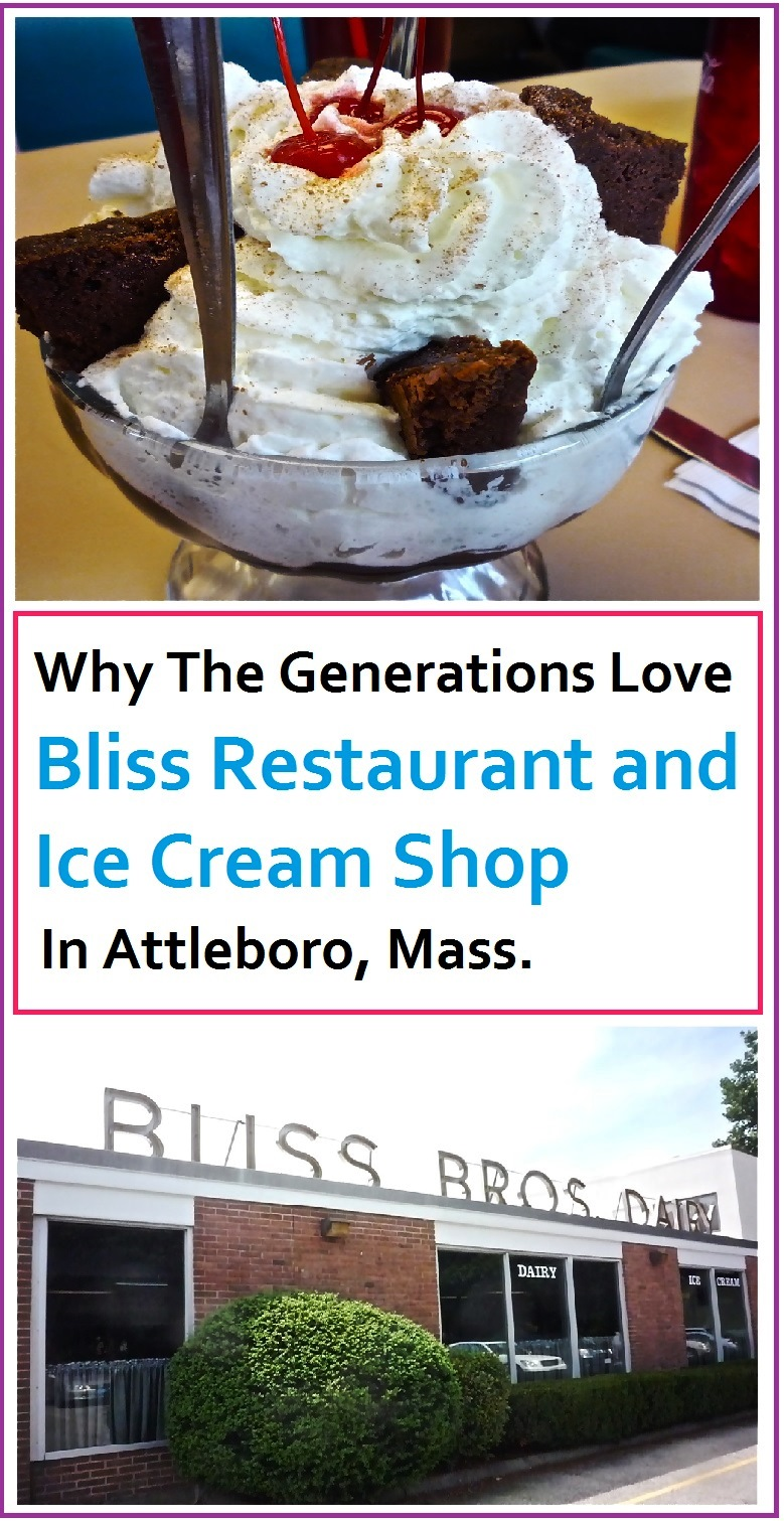 Love old-fashioned, unpretentious ice cream restaurants? Bliss Restaurant and Ice Cream Shop in Attleboro, Mass., is that type of place.