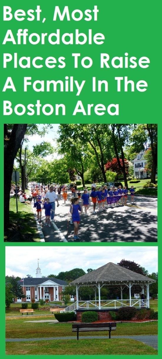 Best, relatively affordable towns in the Boston area to raise a family.