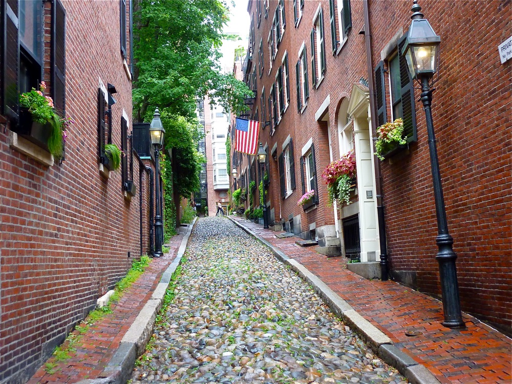 Beacon Hill in Boston, Massachusetts