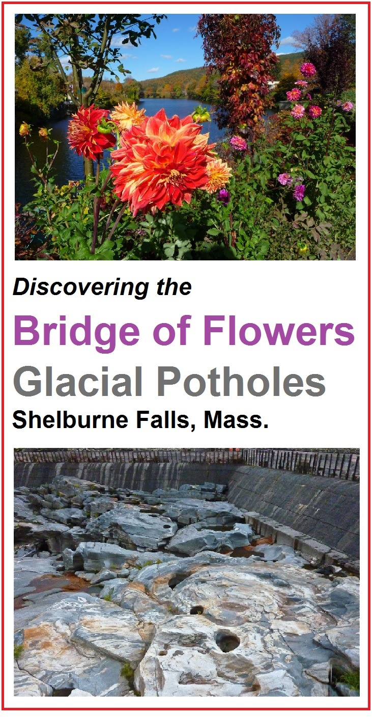 One of New England's most unusual attractions, the Bridge of Flowers and Glacial Potholes are located in charming, quaint Shelburne Falls, Massachusetts.
