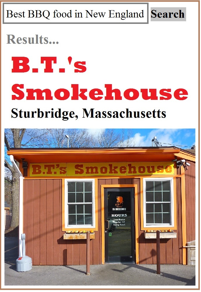 Brisket from B.T.'s Smokehouse in Sturbridge, Mass.