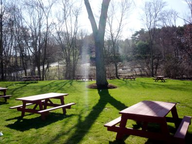Bubbling Brook Ice Cream Stand picnic tables photo