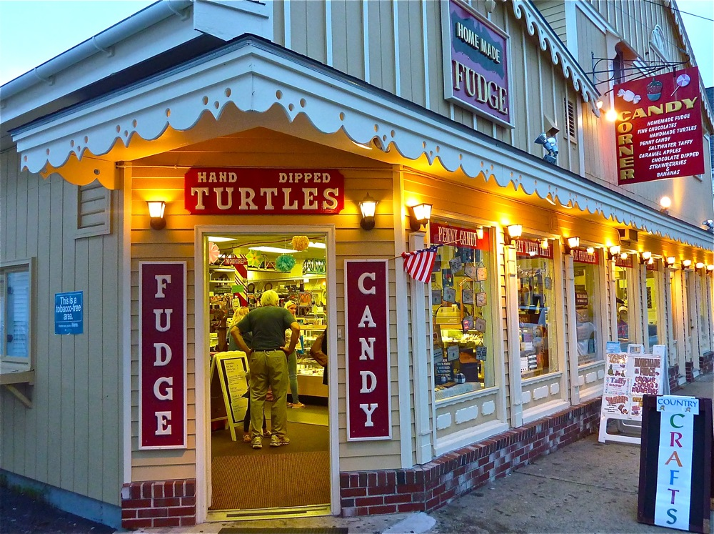 The Dandy Corner in York Beach, Maine is a summer business that specializes in saltwater taffy, homemade fudge, truffles, penny candy and chocolate-dipped strawberries.