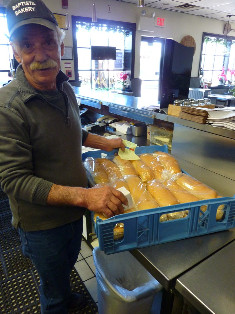 Fresh bread brought in daily from Baptisto Bakery in Bristol, R.I., to Carmella's Pizzeria in Middletown, R.I.