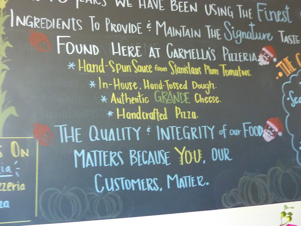 Showing the care that goes into Carmella's food in Middletown, RI
