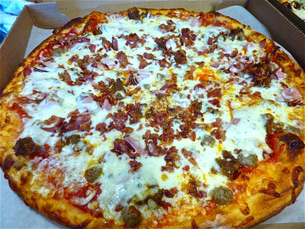 Meat pizza from Carmella's Pizzeria in Middletown, R.I.
