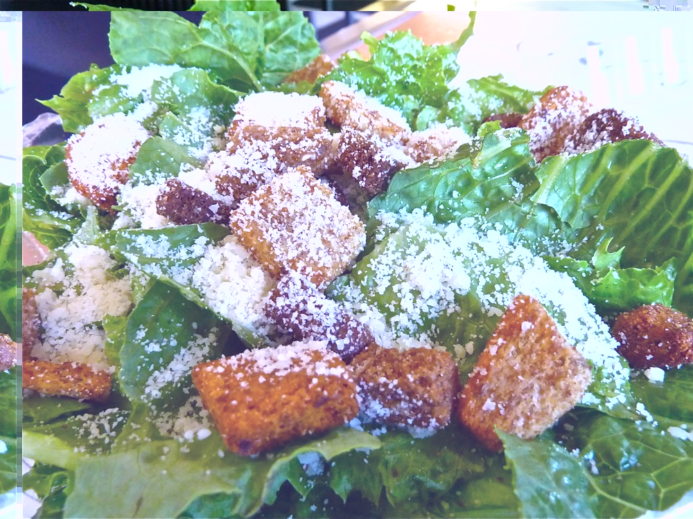 Caesar salad from Carmella's Pizzeria in Middletown, R.I.