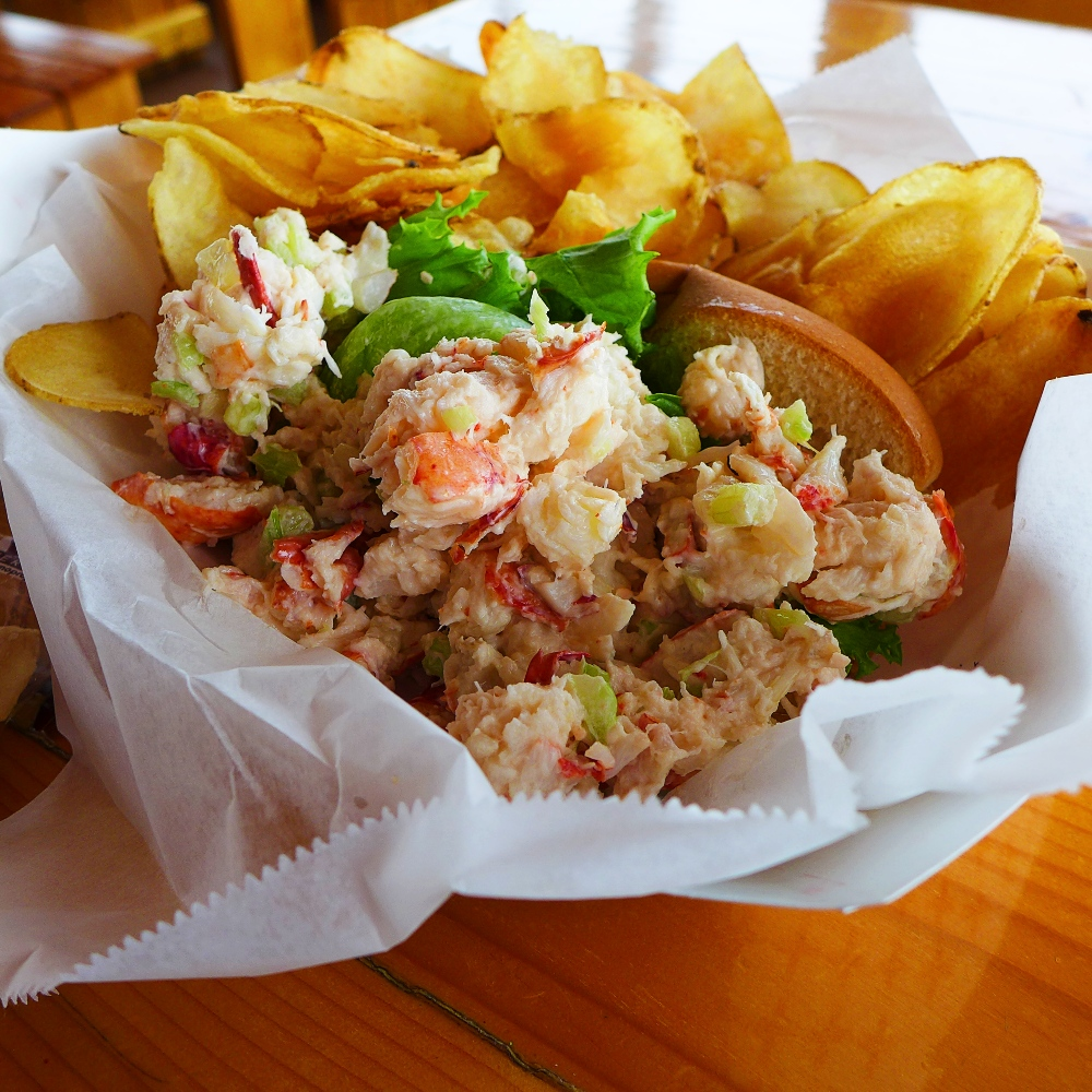 Lobster roll from Champlin's Seafood in the live fishing village of Galilee in Narragansett, R.I.