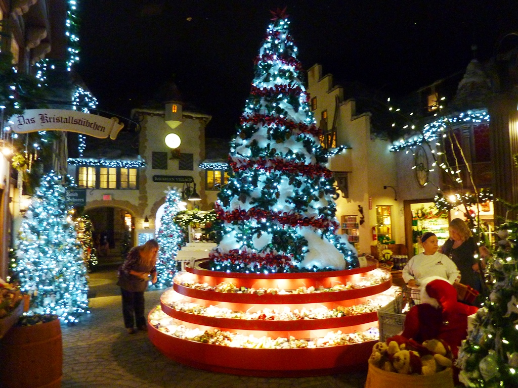 Bavarian Village at the Yankee Candle flagship store in South Deerfield, Massachusetts