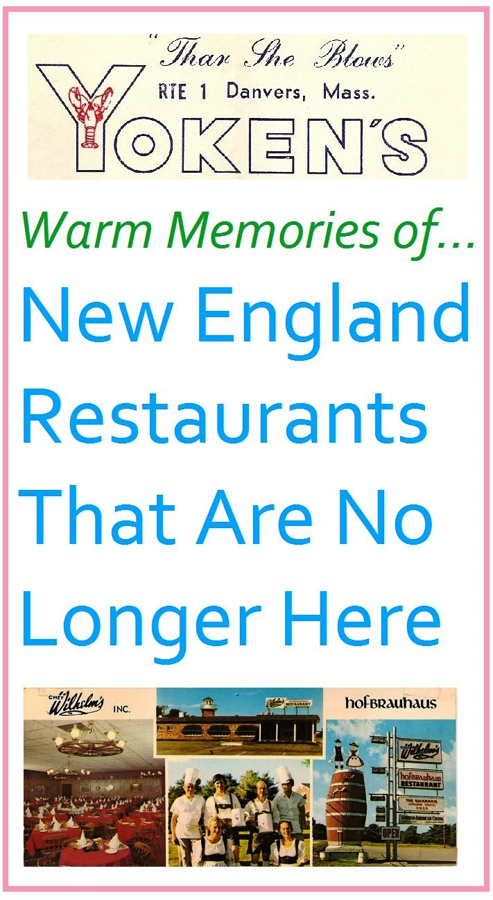 Why is it that some of the best restaurants in New England had to close? This story warmly reminisces about great restaurants from the 60s, 70s, 80 and 90s that are no longer there.