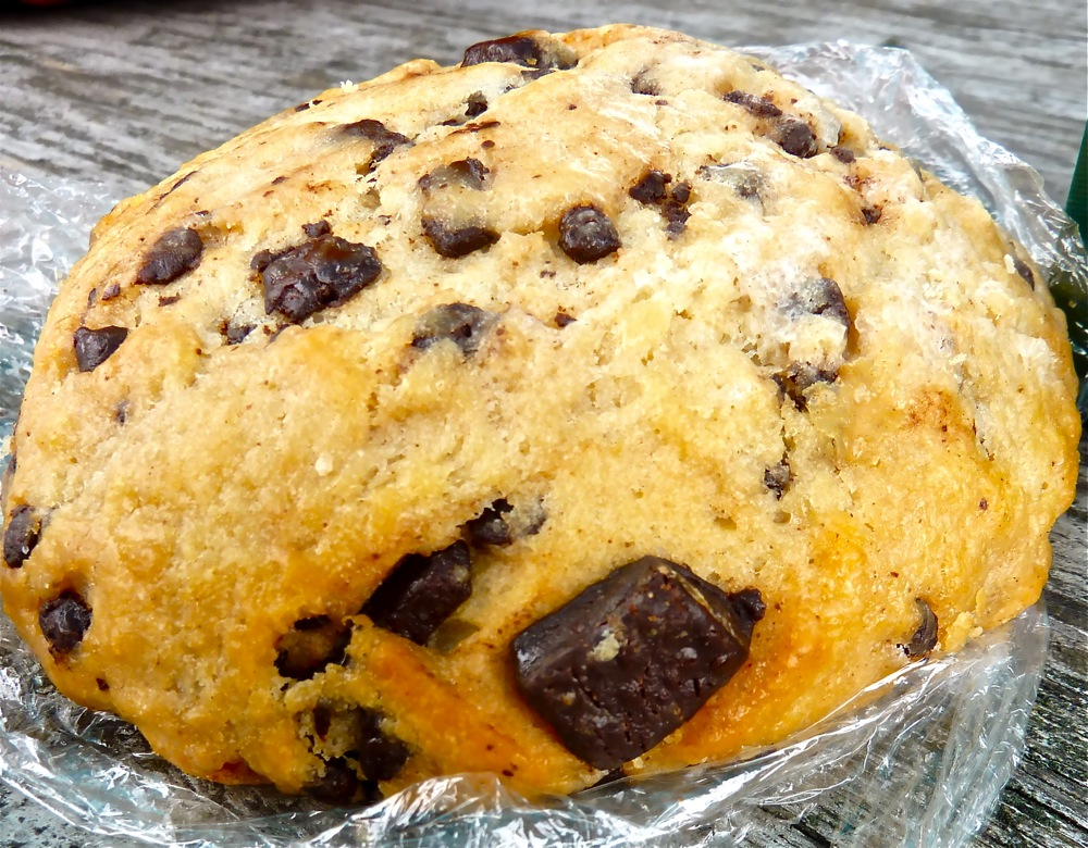 Chocolate scone from Coastal Roasters in Tiverton, R.I.