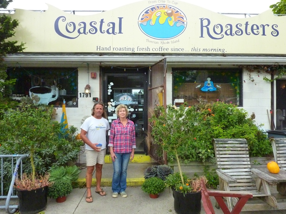 Donald and Lisa Machado, co-owners of Coastal Roasters in Tiverton, R.I.