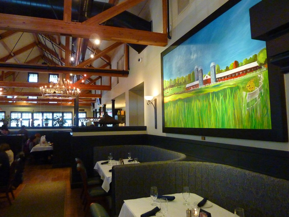 Dana Boucher's art work can be seen throughout the Copper Door restaurant in Bedford, NH.