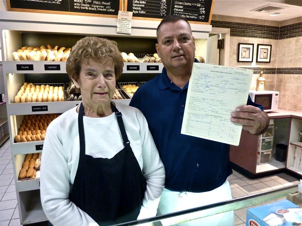 Madeline Taylor has worked at Country Kitchen Donuts in Walpole for many years.