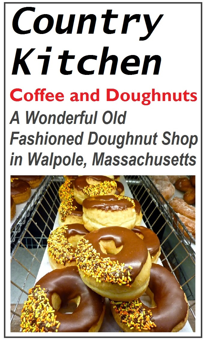 Country Kitchen in Walpole, Mass., is one of those old-fashioned, locally-run doughnuts shops you thought was gone forever. Nice to see small-town America gather here for delicious homemade doughnuts and good coffee.