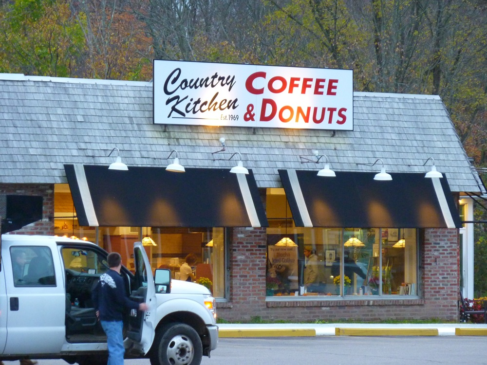Country Kitchen Donuts and Coffee in Walpole, Massachusetts.
