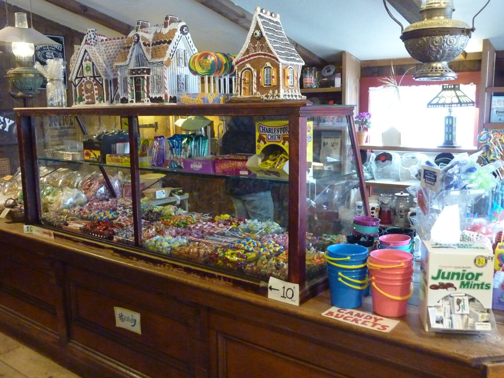 Candy section at Old Country Store and Emproium, Mansfield, Massachusetts